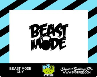Fitness SVG Beast Mode SVG Beast Mode Tshirt Design Commercial Free Cricut Files Silhouette Files Digital Cut Files svg cut files