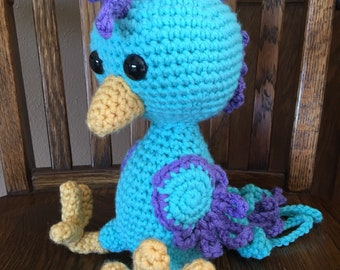 Blue and Purple Bird Stuffie