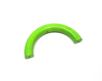 Half ring wooden 100mm Apple green