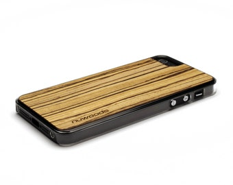 iPhone 5 Case Wood Zebrawood, Wood iPhone SE Case, iPhone 5S Case Wood