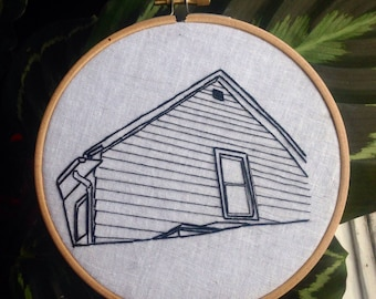American Football band hand embroidered wall hanging math rock