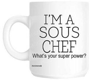Sous chef gift mug shan1149