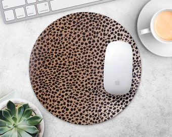 Leopard Mouse Pad Panther Mouse Mat Desk Accessories Animal MousePads Idea Gift for Her MouseMat Computer Mouse Pad Decor Office Supplies