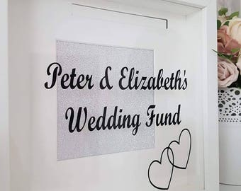 Wedding savings fund, savings fund frame, feathers appear when angels are near, memory frame, family frame, remembrance frame
