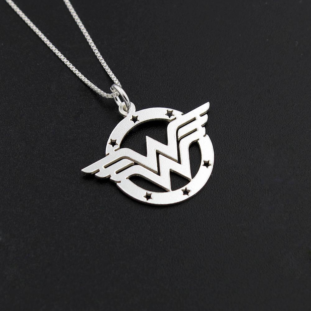 Wonder woman necklace sterling silver wonder woman symbol description wonder woman necklace biocorpaavc Images