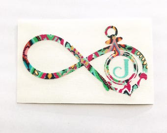 Infinity Decal, Infinity Monogram, Anchor Decal, Vinyl Decal, Yeti Decal, Car Decal, Gifts for Her, Phone Decal, Laptop Decal