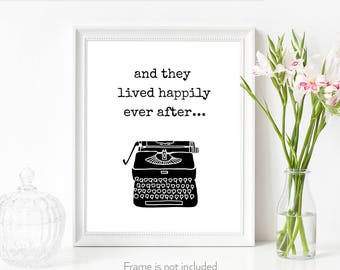 Newlyweds gift / And they lived / Happily ever after / Book theme wedding gift / Paper anniversary for her /