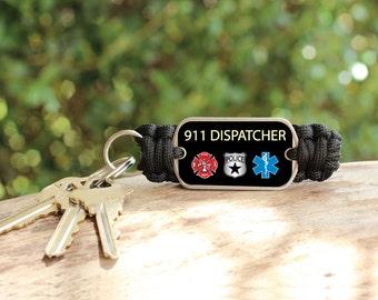 Tough Bands® Paracord Key Fob - 911 Dispatcher