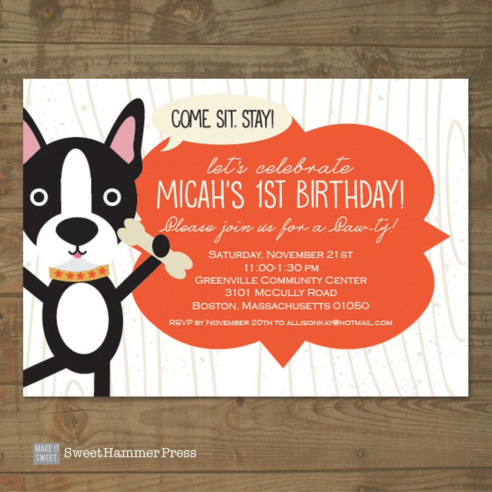 Fine Puppy Baby Shower Invitations Embellishment - Invitations and ...
