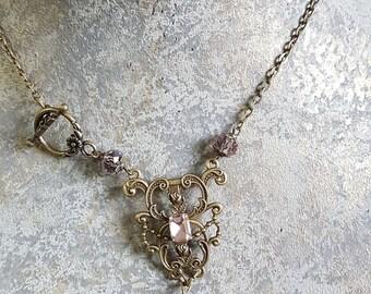 Pink retro vintage necklace