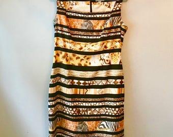 Vintage Alberto Makali Animal Jungle Print Dress