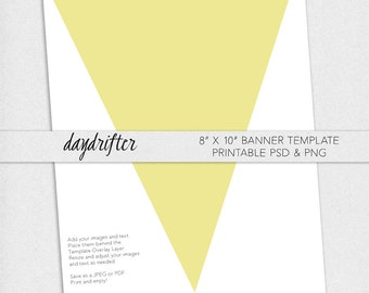 print your own 8 x 10 triangle pennant banner diy digital download party
