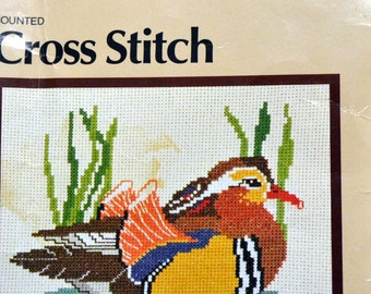 Dritz Mandarin Duck Counted Cross Stitch Kit Dritz Kit 8923