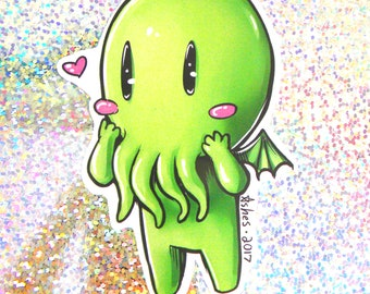 Cute Chibi Cthulhu Sticker
