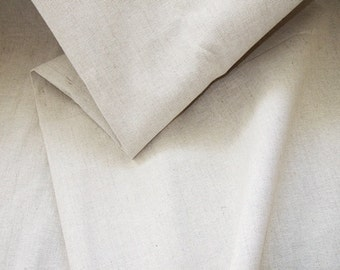 Linen Cotton fabric - Natural Linen Cloth - Size: 150cm x 100cm (59 x 39 inches)
