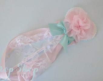 Girls Rosette Heart Wand, Dress up, Birthday, Special Occasion, Photo Prop