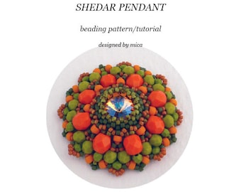 Shedar Pendant - Beading Pattern/Tutorial - PDF file for pesonal use only