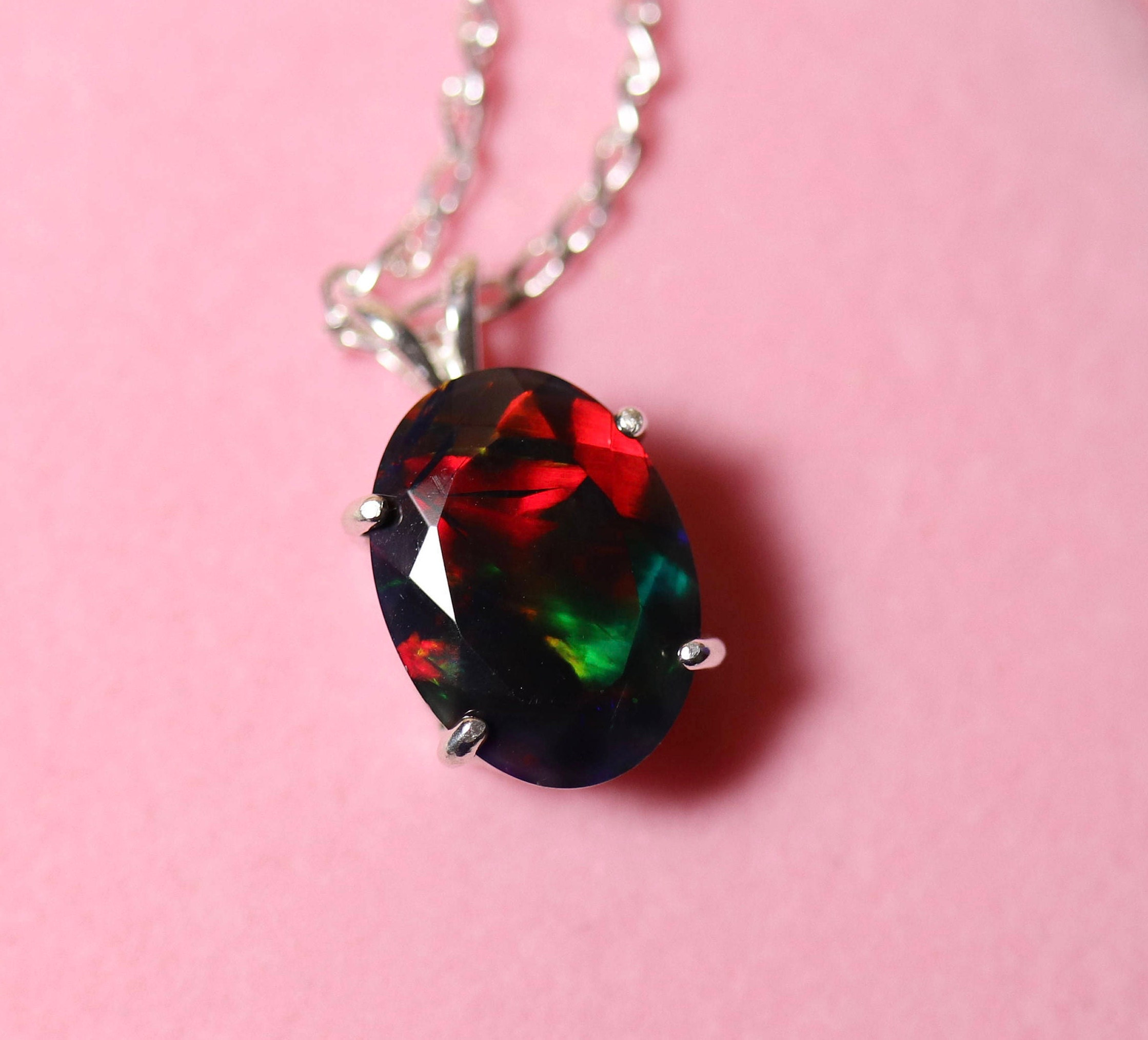 knot sterling shipping free black opal oravo created product jewelry on ct infinity overstock silver pendant over necklace watches orders