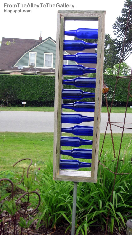 PLANS for Blue Beer BOTTLE LADDER Architectural Garden Art Plans to ...