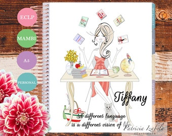 Languages Erin Condren Planner Cover Illustrated Planner Cover Happy Planner Cover Mambi Planner Cover A5 Learning Work To Do Office quote