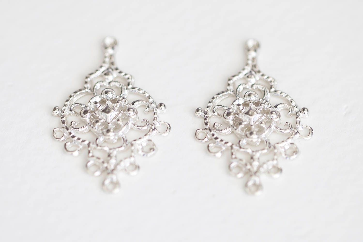 Sterling silver chandelier earring components 7 holes 925 silver sold by luxem arubaitofo Image collections