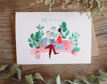 Plant Lovers Illustrated Card