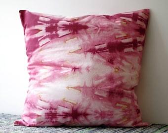Handmade Shibori Pillow Cover