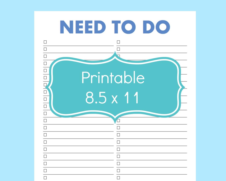 printable to do lists templates