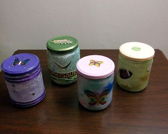 Jar Nightlight, battery operated, child's bedroom, personalized, FREE Shipping