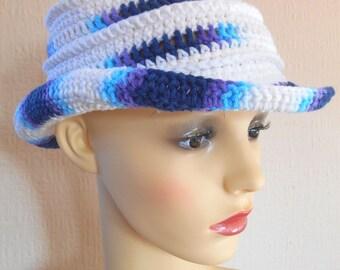 SALE 45% off,Crochet sun hat, Women's sun hat, Beach hat, Floppy sun hat with brim,Garden hat, Gift for her