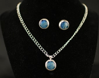 christmas-gift-for-women,Fashion Jewelry, Blue Gift For Wife, Unique Jewelry, Statement Jewelry, Jewelry Set, Necklace, Gift For Her
