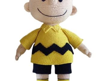 Crochet Pattern - Charlie Brown / Virkmönster Karl i Snobben