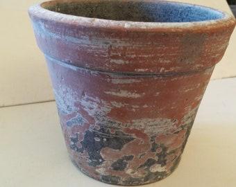 1 aged look terra cotta pot