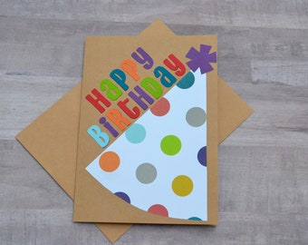 Birthday Card, Handmade Birthday Card, Kids Birthday Card