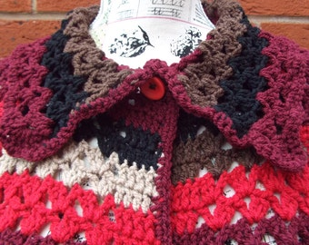 crochet jumper multi colour short sleeve crochet jumper crochet sweater