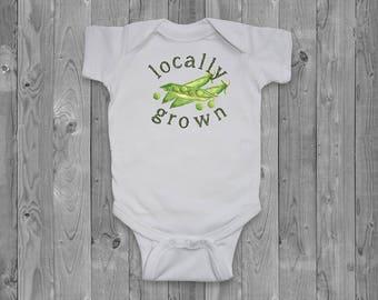 Baby onesie - Locally Grown Peas