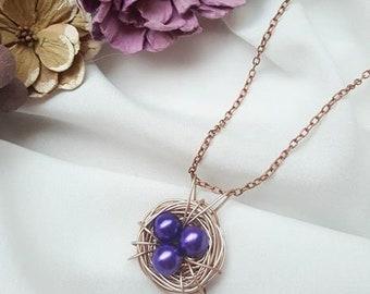 Sweet bird nest necklace