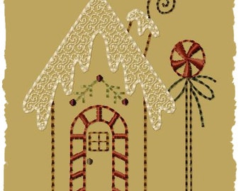 Gingerbread House 1-Version 2-4x4-INSTANT DOWNLOAD