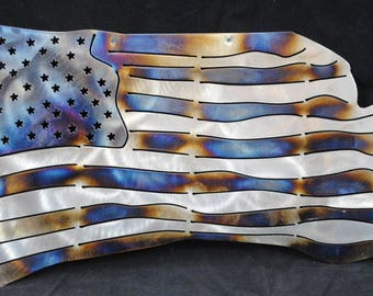 American Flag, United States Flag, USA, Patriotic Flag, American Flag Wall Art, Metal American Flag, Stars and Stripes, Metal Decor, Gift