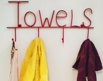 Towel Holder , Towel Hooks, Towel Rack, Towel Ring , Jewelry Organizer , Coat Hook , Kitchen Towel Holder , Wall Hooks, Towel Rack Bathroom
