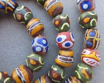 Mixed Krobo Glass Beads [67885]