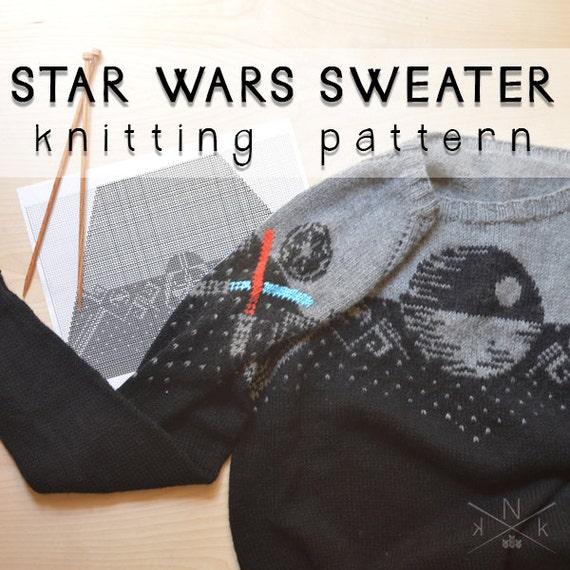 Star Wars Sweater Knitting Pattern From Knatalieknits On Etsy Studio