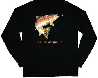 Rainbow Trout T-shirt Long Sleeve Tee
