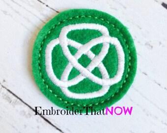 Knotty Celtic Circle Digital Feltie Embroidery Design File