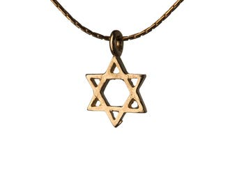 Star Of David 14K Gold Filled Pendant Necklace Dainty Simple Jewellery Magen David Necklace Handmade Free UK delivery GP18