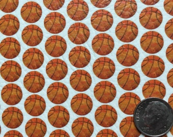 Basketballs Faux Leather Sheet, Vegan Leather Sheets, Bow Leather, Moccasin Leather, Basketball, Sports, Spring, March Madness