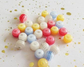 set of 25 acrylic round beads