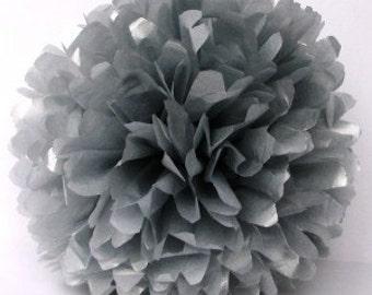 Silver/Grey Tissue Pom 14 in