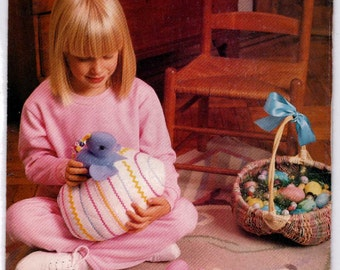 Bunnies and Chicks with Egg And Rabbit Storage Pattern  Butterick 6153