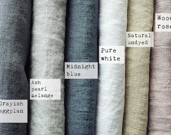 Linen fabric samples - Linen fabric for bedding